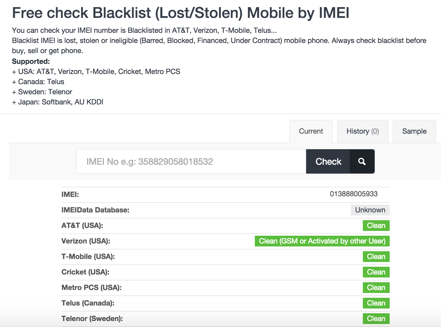 how to check if phone is unlocked with imei
